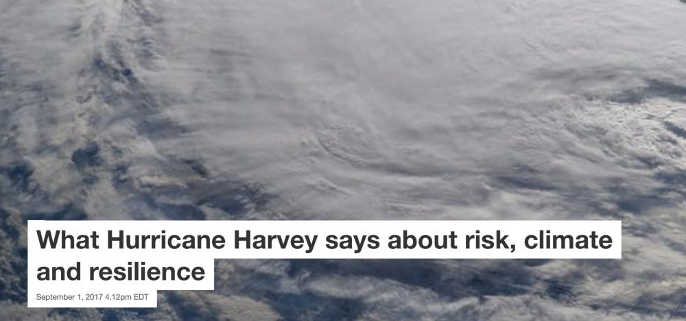 three texas scientists on hurricane harvey